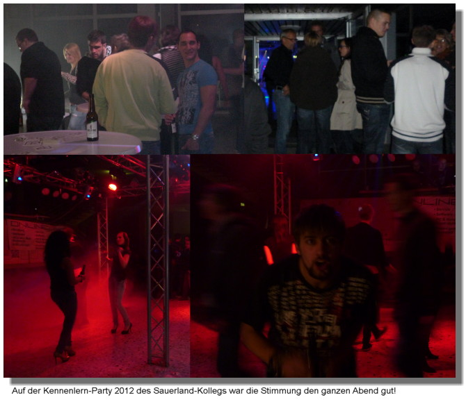 Bilder der Kennenlern-Party 2012